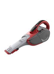 Black and Decker 10.8V MPP Dustbuster Cordless Hand Vacuum Cleaner, DVJ315J-B5, Grey/ Red