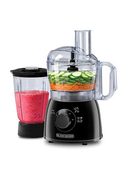 Black+Decker Midi Food Processor, 400W, with Blender Jar, FX400B-B5, Black