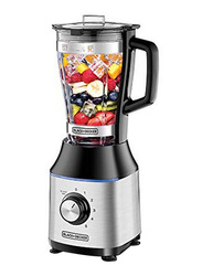 Black+Decker 1.75L Glass Jar Blender, 700W, BX650G-B5, Black/Silver