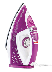 Black+Decker Steam Iron with Ceramic Soleplate, 2400W, X2450-B5, Purple/White