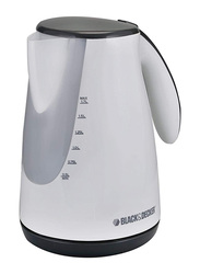 Black+Decker 1.7L Concealed Coil Kettle, 1500W, JC72-B5, White
