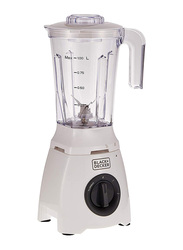 Black+Decker Blender, 400W, with 2 Mills and Extra Jar, BL405-B5, White