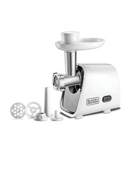 Black+Decker Plastic Meat Grinder, 1500W, FM1500-B5, White