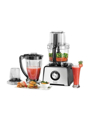Black+Decker 4 in 1 Stainless Steel Food Processor, 800W, FX810-B5, Black/Silver