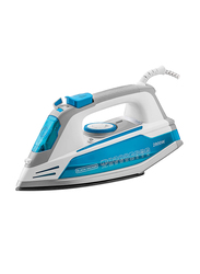 Black+Decker Steam Iron with Anodized Soleplate, 2800W, X2800-B5, Blue/White