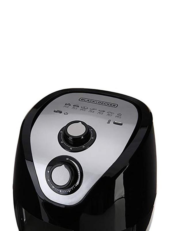 Black+Decker 2.5L Aero Fry Air Fryer, 1500W, AF200-B5, Black