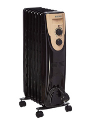 Black+Decker Oil Radiator Heater, OR070D-B5, Black