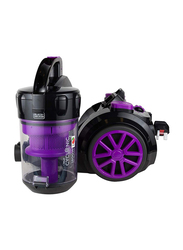 Black and Decker 1800W Cyclonic Canister Vacuum Cleaner, 2.5L VM1880-B5, Purple