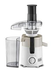 Black+Decker 0.95L Juice Extractor, 250W, JE250, White