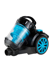 Black and Decker 2000W Cyclonic Canister Vacuum Cleaner, 2.5L VM2080-B5, Blue/Black