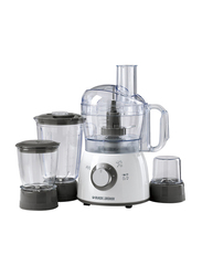 Black+Decker Food Processor, 400W, with Blender, Mincer & Grinder, FX400BMG-B5, White