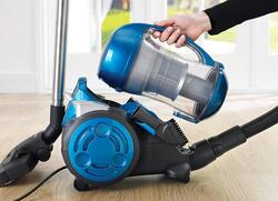 Black and Decker 2000W Multi-Cyclonic 6-Filter Canister Vacuum Cleaner, 1.8L VM2825-B5, Blue/Black