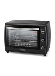 Black+Decker 70L Toaster Oven, 2200W, with Double Glass, TRO70RDG-B5, Black