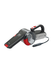 Black and Decker 12V DC Dustbuster Pivot Auto Car Vacuum Cleaner, PV1200AV-B5, Grey/Red