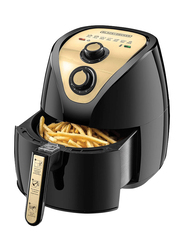 Black+Decker 2.5L Manual Air Fryer AerOfry with Rapid Air Convection Technology, 1500W, AF250G-B5, Black/Gold
