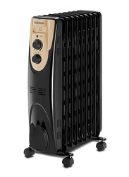Black+Decker Oil Radiator Heater, 2000W, OR090D-B5, Black