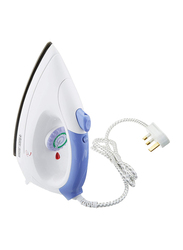 Black+Decker Dry Iron with Spray Function, 1000W, F150-B5, White/Blue