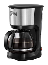 Black+Decker Coffee Machine with Glass Carafe, 750W, DCM750S-B5, Silver/Black