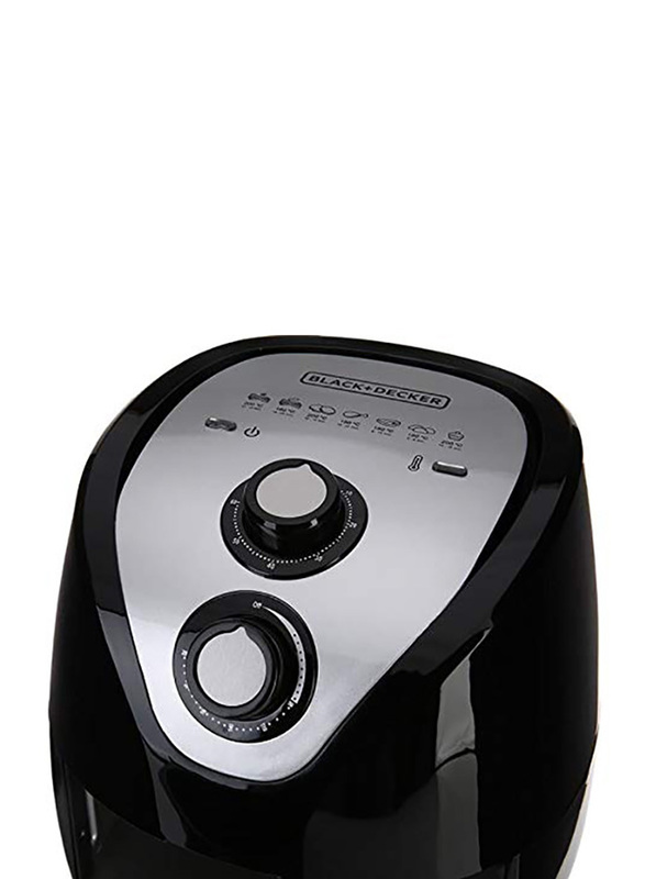 Black+Decker 2.5L Aero Fry Air Fryer, 1500W, AF200-B5, Black
