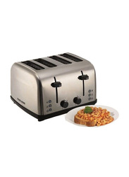Black+Decker 4 Slice Parallel Slot Stainless Steel Toaster, with Dual Control, ET304-B5, Silver