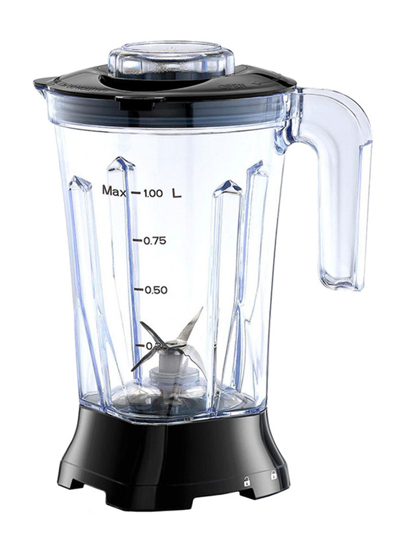 Black+Decker Grater Mill, 400W, with Grinder and Extra Jar Blender, BL415-B5, Black