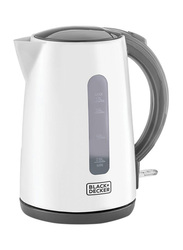 Black+Decker 1.7L Promo Concealed Coil Kettle, 2200W, JC70-B5, White