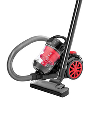Black and Decker 1600W Cyclonic Canister Vacuum Cleaner, 2.5L VM1680-B5, Red/Black