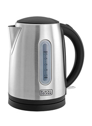 Black+Decker 1.7L Concealed Coil Electric Stainless Steel Kettle, 2200W, JC400-B5, Silver/Black