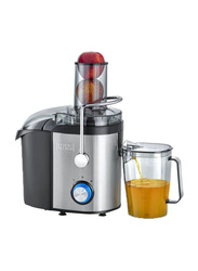 Black+Decker 1.7L Electric Stainless Steel Juicer Extractor, 800W, JE800-B5, Silver/Black/Clear