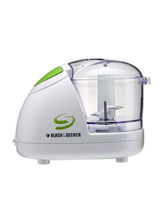 Black+Decker 1.5L Super Electric Plastic Chopper, 300W, SC5000-B5, White/Green
