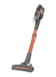 Black+Decker Powerseries Extreme 18V 4-in-1 Cordless Stick Vacuum Cleaner, 650ml, BHFEV182C-GB, Orange/Grey