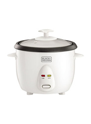 Black+Decker 1L Non-Stick Rice Cooker, 350W, RC1050-B5, White