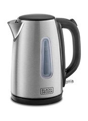 Black+Decker 1.7L Electric Stainless Steel Kettle, 2200W, JC450-B5, Silver