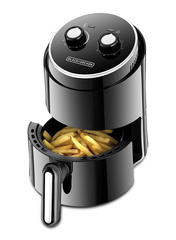 Black+Decker 1.5L Aero Fry 500g Mini Air Fryer, 1230W, AF100-B5, Black