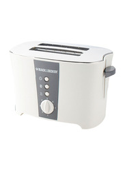 Black+Decker 2 Slice Cool Touch Toaster, ET122-B5, White