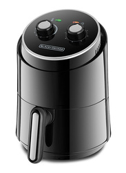 Black+Decker 1.5L Aero Fry 500g Mini Air Fryer, 1230W, AF100-B5, Black