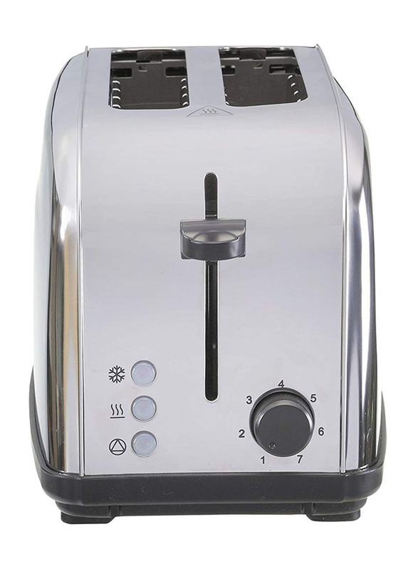 Black+Decker 2 Slice Stainless Steel Toaster, 1050W, ET222-B5, Silver