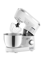 Black+Decker Bowl and Stand Mixer, 1000W, SM1000-B5, White/Silver