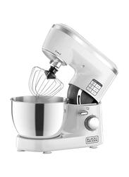 Black+Decker Bowl and Stand Mixer, 1000W, SM1000-B5, White/Silver