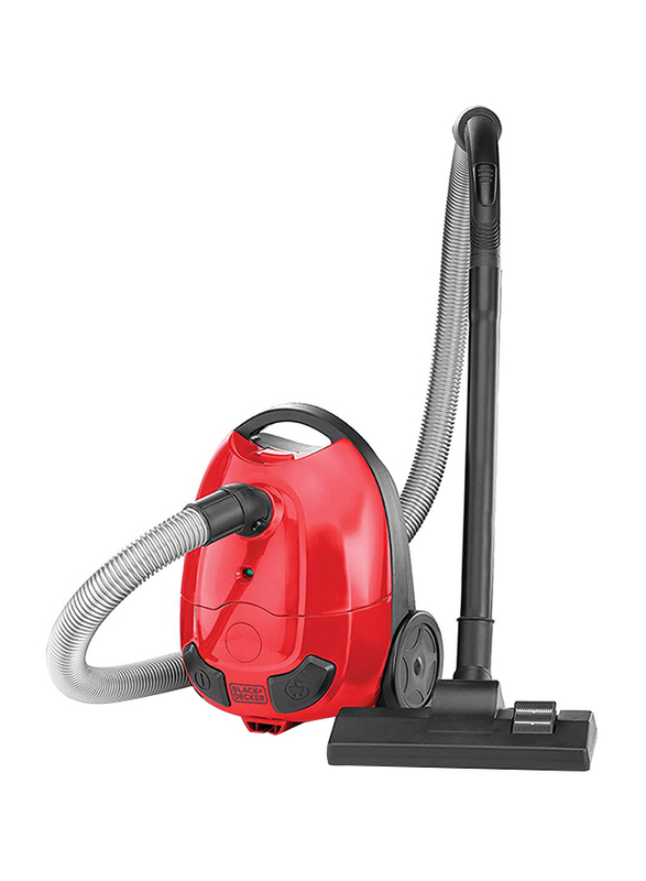 Black and Decker 1000W Bagged Upright Vacuum Cleaner, 1L VM1200-B5, Red