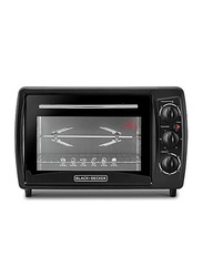 Black+Decker 19L Toaster Oven, 1380W, with Double Glass, TRO19RDG-B5, Black