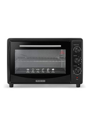 Black+Decker 45L Toaster Oven, 1800W, with Double Glass, TRO45RDG-B5, Black