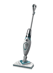 Black and Decker 1600W EPP Steam Mop, Variable Steam with Microfibre Pad, FSM1616-B5, White/Blue