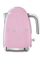 Smeg 50's Retro Style Aesthetic 1.7L Electric Stainless Steel Kettle, 3000W, Pink