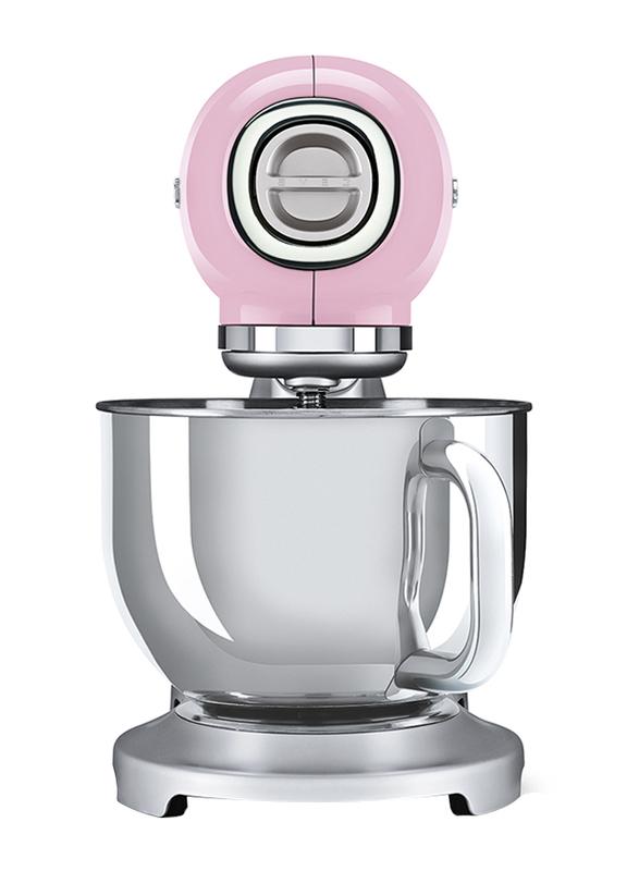 Smeg 50's Retro Style Aesthetic Stand Mixer, 800W, SMF02, Pink