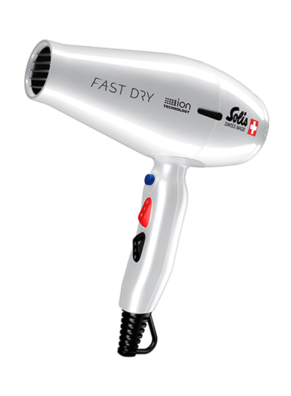 Solis Fast Dry Hair Dryer, Type 381, Silver