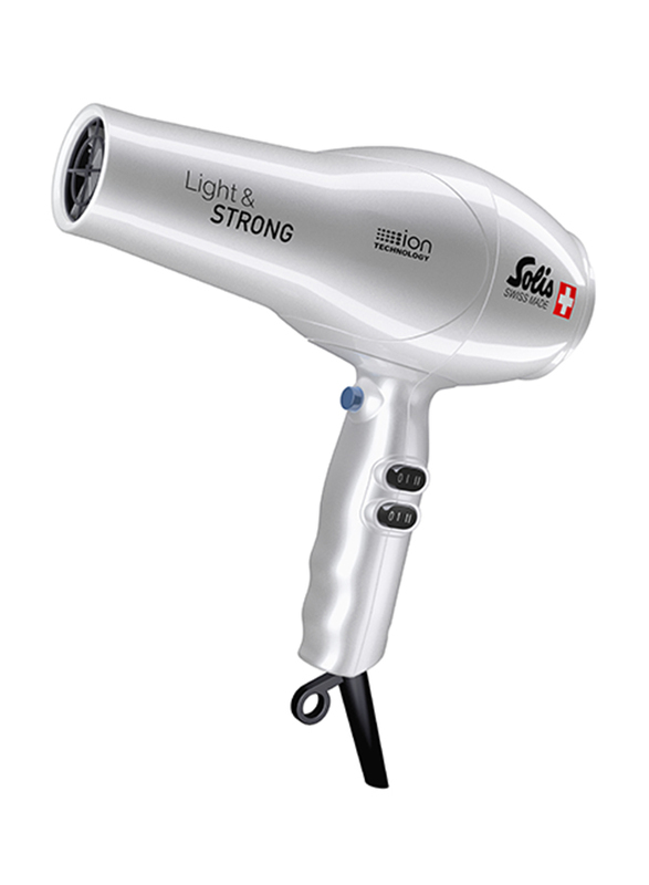 Solis Light & Strong Hair Dryer, Type 442, Silver