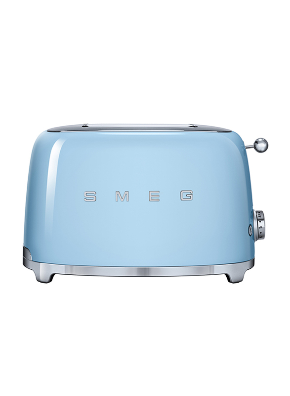 Smeg 50's Retro Style Aesthetic 2 Slice Toaster, 950W, Pastel Blue
