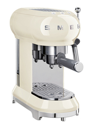 Smeg 50's Retro style Aesthetic Espresso Coffee Machine, 1350W, Cream