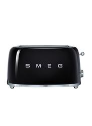 Smeg 50's Retro Style Aesthetic 4 Slice Toaster, 1500W, Black